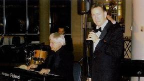 Pianist Billy Pierce and singer Frank Lamphere on a gig together. 2007
