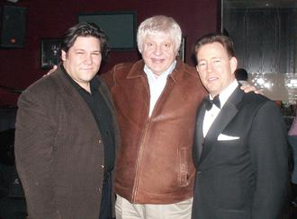 "Legendary entertainer Billy Pierce with singers Bryon Garrison and ""Mr. Rat Pack"" Frank Lamphere"